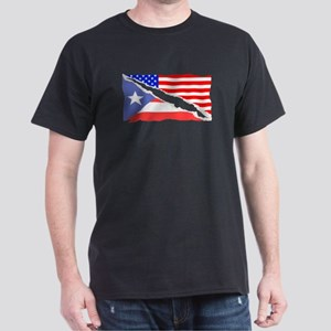 Puerto Rican American Flag T-Shirt