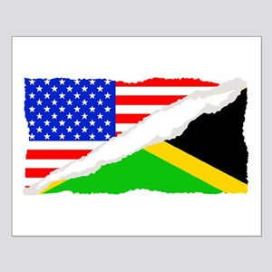 Jamaican American Flag Posters