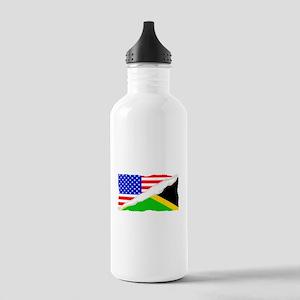 Jamaican American Flag Water Bottle