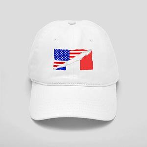 French American Flag Baseball Cap
