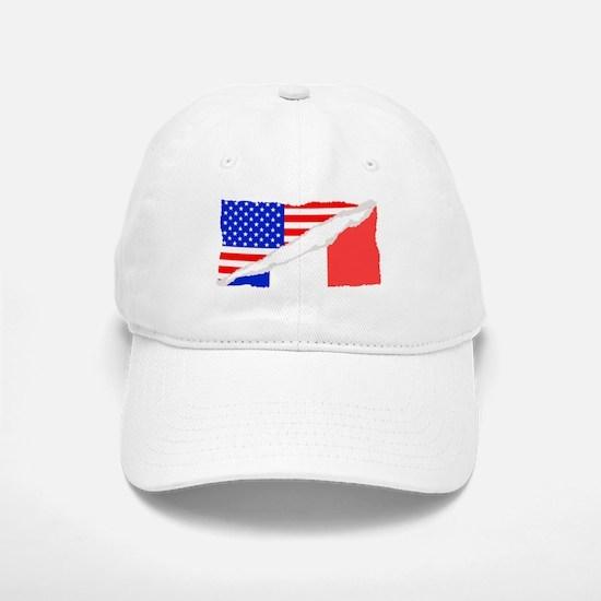 French American Flag Baseball Baseball Baseball Cap