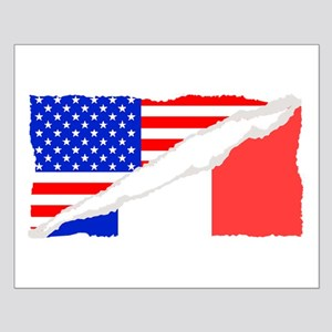 French American Flag Posters