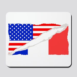 French American Flag Mousepad