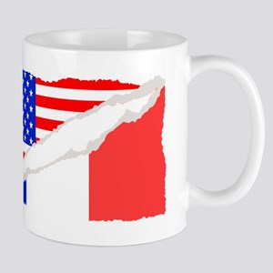 French American Flag Mugs