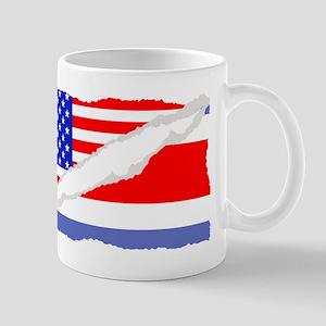 Costa Rican American Flag Mugs