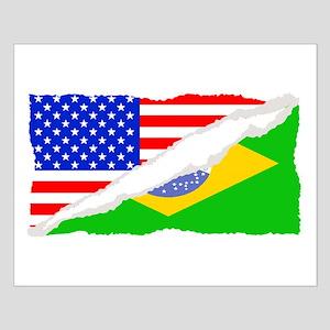 Brazilian American Flag Posters