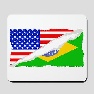 Brazilian American Flag Mousepad
