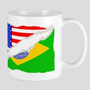 Brazilian American Flag Mugs