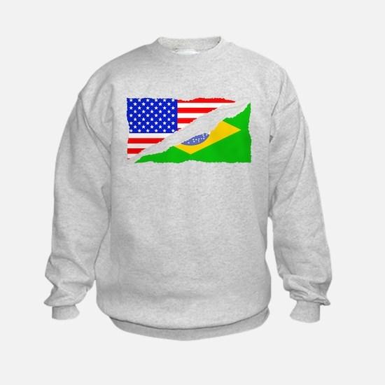 Brazilian American Flag Sweatshirt