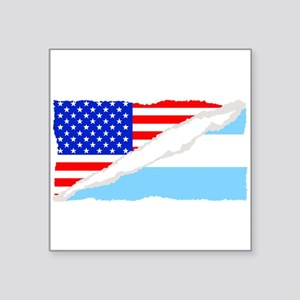 Argentinian American Flag Sticker