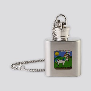 Some Days You're The Unicorn Flask Necklace