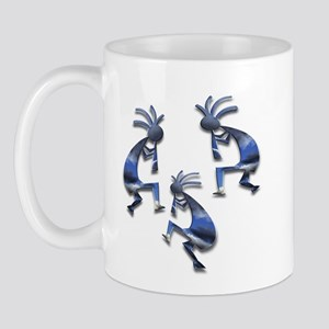 Blue & Gray Kokopelli Mug