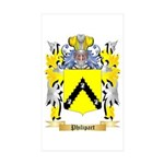 Philipart Sticker (Rectangle 50 pk)