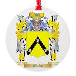 Philip Round Ornament
