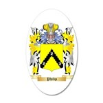 Philip 20x12 Oval Wall Decal