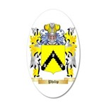 Philip 35x21 Oval Wall Decal