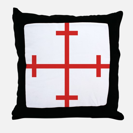 Rosy Cross Throw Pillow