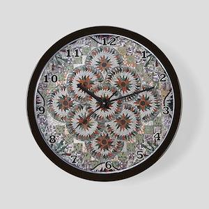 Pinwheel Circles Wall Clock
