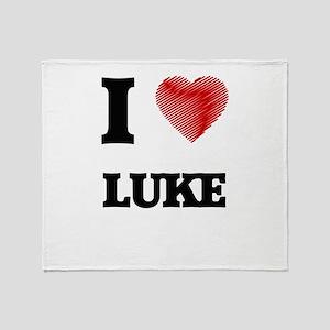 I love Luke Throw Blanket