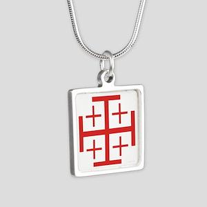 Order of Jerusalem Silver Square Necklace