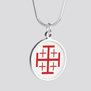 Order of Jerusalem Silver Round Necklace