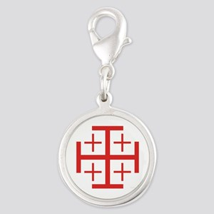 Order of Jerusalem Silver Round Charm