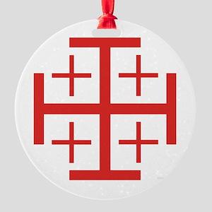 Order of Jerusalem Round Ornament