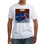Football Season Ends Fitted T-Shirt
