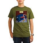 Football Season Ends Organic Men's T-Shirt (dark)