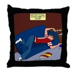 Football Season Ends Throw Pillow