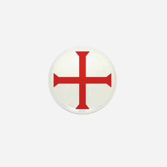 Templar Cross Mini Button