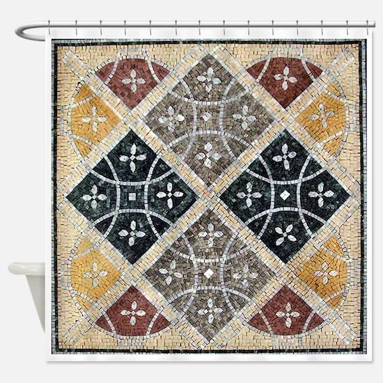 Geometric Circles Shower Curtain