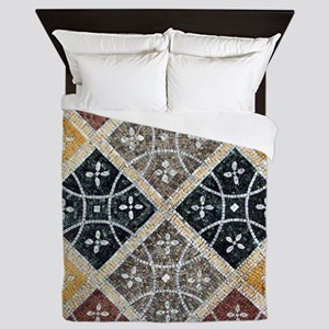 Geometric Circles Queen Duvet