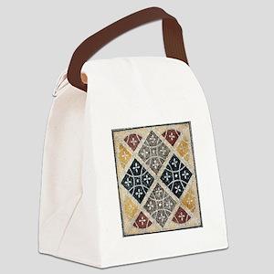 Geometric Circles Canvas Lunch Bag