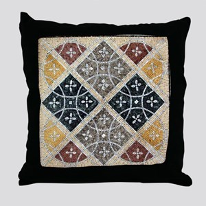 Geometric Circles Throw Pillow