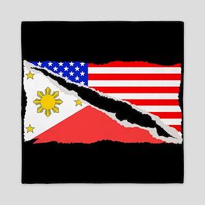 Filipino American Flag Queen Duvet