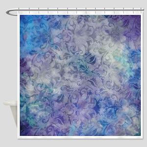 Blue Lavender Floral Shower Curtain