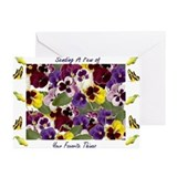 Pansy Greeting Cards (20 Pack)