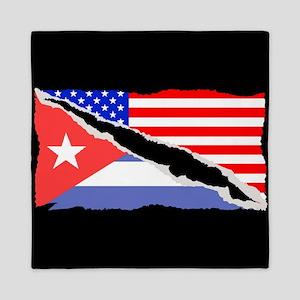 Cuban American Flag Queen Duvet