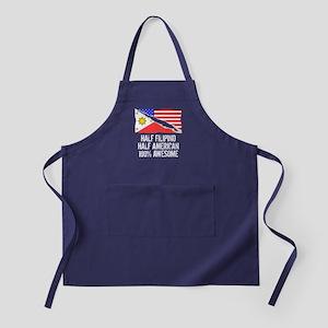 Half Filipino Half American Awesome Apron (dark)