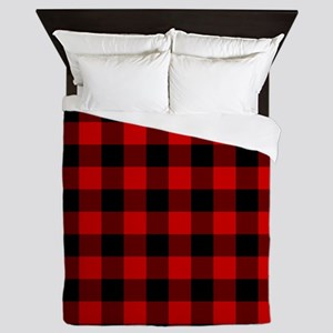 Red Plaid Queen Duvet