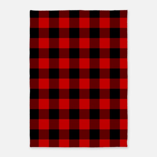 Red Plaid 5'x7'Area Rug