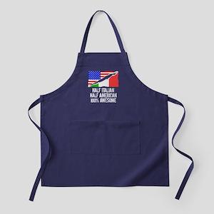 Half Italian Half American Awesome Apron (dark)