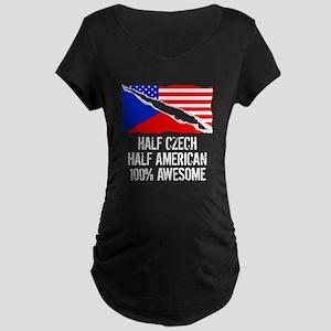 Half Czech Half American Awesome Maternity T-Shirt