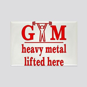 Heavy Metal Lifted Here Rectangle Magnet