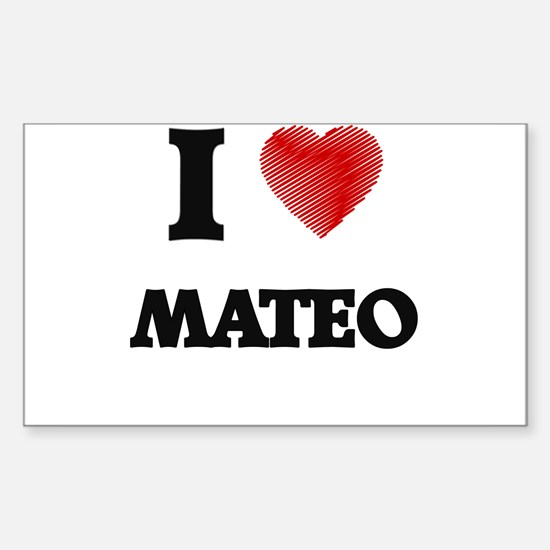 I love Mateo Decal