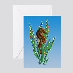 Christmas Seahorse Greeting Cards (Pk of 20) {MK}