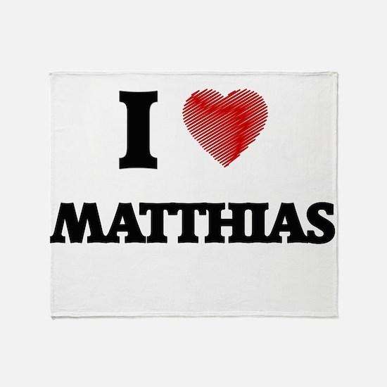 I love Matthias Throw Blanket