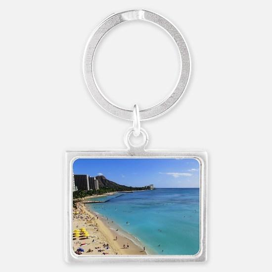 Cute Honolulu Landscape Keychain