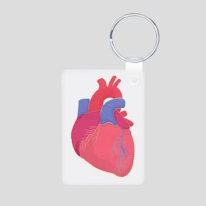 Valentine Heart Aluminum Photo Keychains